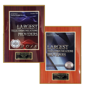 2018 and 2017 Largest VOIP Provider by Hartford Business Journal
